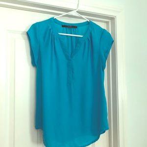Fun 2 Fun turquoise blouse- stitch fix